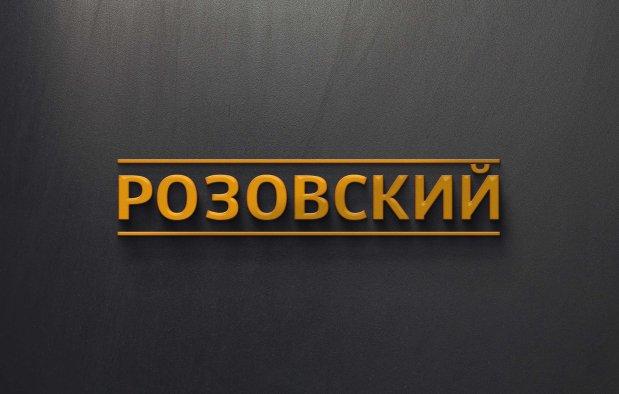 Rozovsky Logo Gray Background